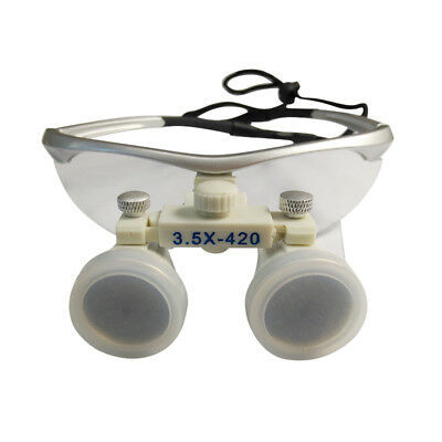 Dental 3.5X420MM Surgical Binocular Optical Magnifier Loupes Glasses silver best