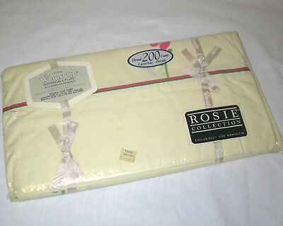Vintage New Old Stock Wamsutta Rosie Collection Double/Full Flat Sheet Supercale