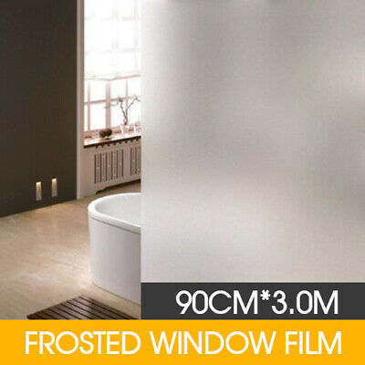 90cm*3m Sand Blast Clear Privacy Frosted Frosting Window Glass Film Removable