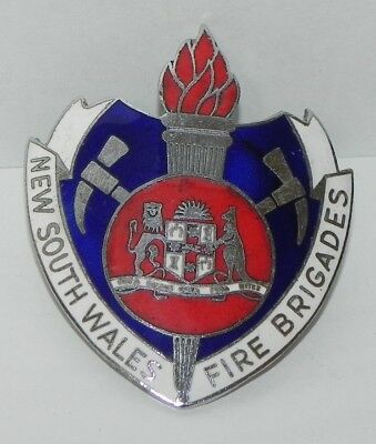 RARE New South Wales Fire Brigades Angry Axes Cap Badge NSW Australian Rescue