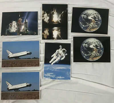 Space Shuttle Collection Post Cards Lot Of 7