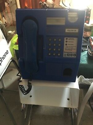 Blue Payphone With Stand