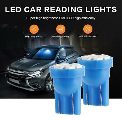 20x T10 8SMD BLUE LED Interior License Reverse Light Bulbs W5W 194 168 2825 158