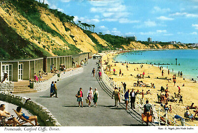 England  - Bournemouth - Promenade and Beach Canford Cliffs  -  1965