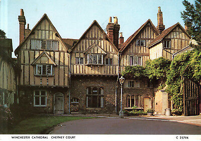 England - Winchester  -  The Cheyney Court near Winchester Cathedral  -  1980
