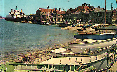 England - Isle of Wight  -  Yarmouth - Town Quay with the Car Ferry  -  1965