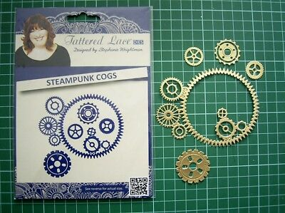 STEAMPUNK COGS 4 piece DIE SET ETL0610 - TATTERED LACE - Stephanie Weightman
