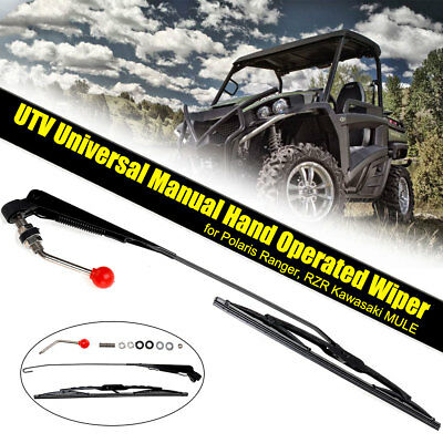 RZR UTV Hand Operated Windshield Wiper for Polaris Ranger MULE Kawasaki