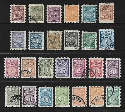 TURKEY mixed collection, 1947 & 1957 Official stamps