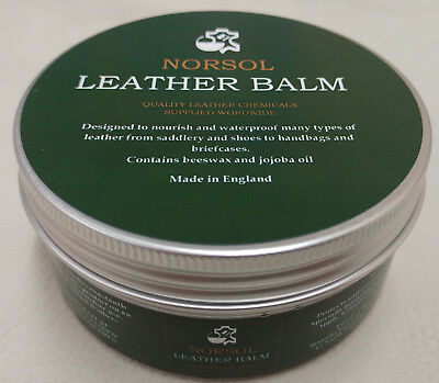 NORSOL Leather Balm to nourish and waterproof, saddles, shoes, bags, 250ml