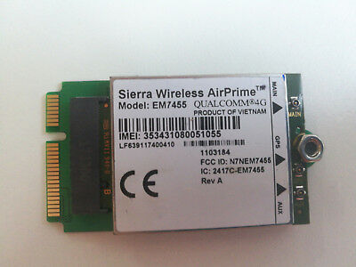 SIERRA WIRELESS EM7455 with PCI-E adapter Same as MC7455 Generic Ver New  Firmwar