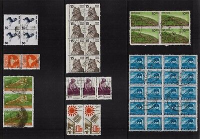 INDIA - mixed collection, joined blocks, pairs, strips, No.28