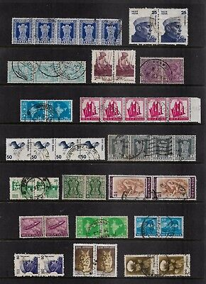 INDIA - mixed collection, joined pairs & strips, No.22