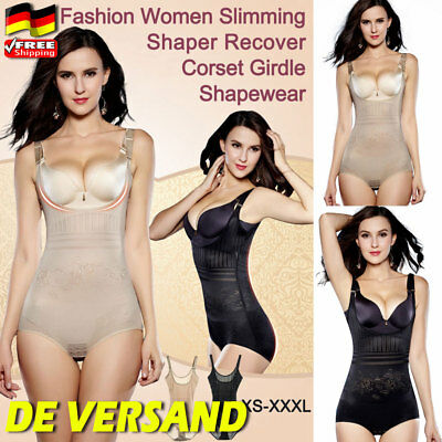 DE Damen Shapewear Figurformender Bodys Taillenformer Angenehm Shaping Bodysuit