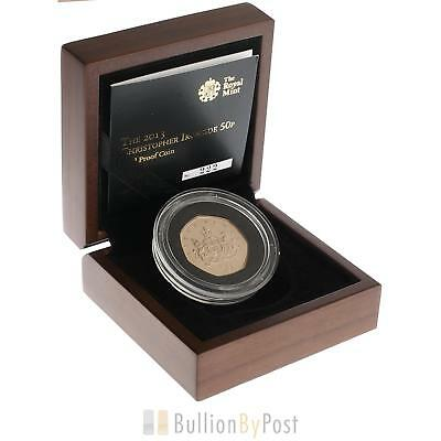Gold Proof 2013 Fifty Pence Piece - Christopher Ironside
