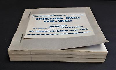 Victorian Railways VR Intersystem Excess Fare Single Ticket Werribee Book. Fifty