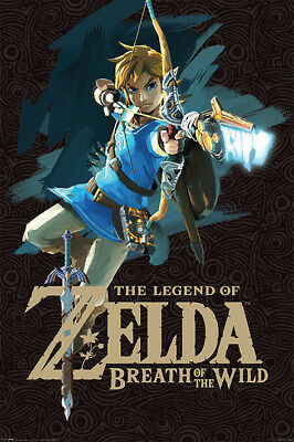 The Legend of Zelda Game Cover Maxi Poster Print 61x91.5cm | 24x36 inches