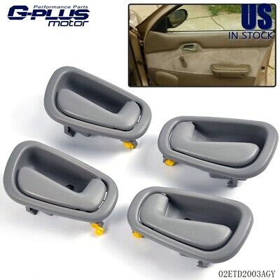 New Gray Interior Inner Inside Door Handle Set of 4 Kit For 98-02 Toyota Corolla