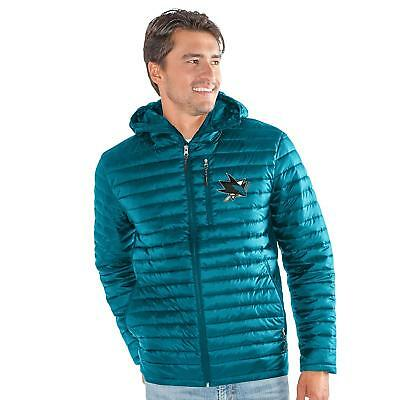 829efbe5e MEN S NHL San Jose SHARKS G-III EQUATOR FULL-ZIP QUILTED HOODED JACKET LARGE