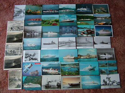 41 Postcards of SHIPS, BOATS & SEA GOING VESSELS. Used & Unused.