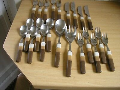 Denby Cotswold ?  22 Pieces Of Cutlery Knives Forks Spoons Salad Servers