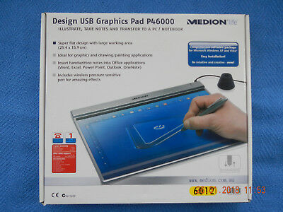 Medion P46000 Digital Drawing Tablet with Pen, Draw & Write on your Computer