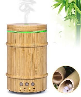 Real Bamboo Essential Oil Diffuser,150ml Ultrasonic Aromatherapy Humidifier with