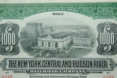 The New York Central and Hudson River Railroad, 1913, Bond 1000$