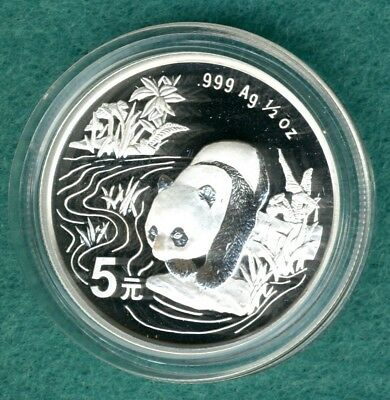 "China  5 Yuan 1997  "" Panda ""  1/2 oz. Silber"