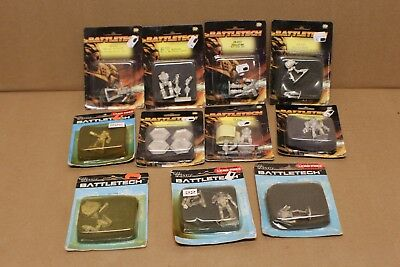 Rare Lot of 11 Battletech Pewter Miniatures by Ral Partha See Listing A2