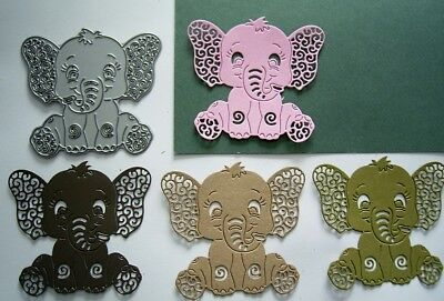 BABY ELEPHANT DIE  D1434 - TATTERED LACE - Stephanie Weightman