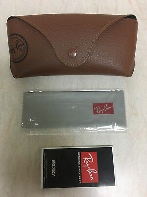Ray-Ban Leather Case Brown with Cleaning Cloth