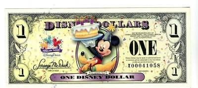 2009 $1 Mickey' Birthday Party D Series & T Series   MINT