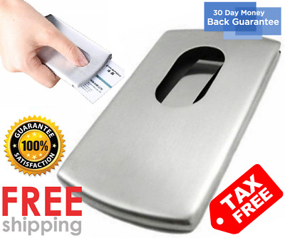 KINGFOM Stainless Steel Wallet Business Name Credit ID Card Holder Case (Steel)