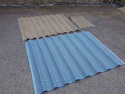 genuine vintage 1960's 1970's dandy cord kitchen mat x 3