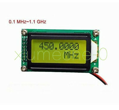 PLJ-0802-F 1 MHz -1.1GHz LED Frequency Counter Tester Measurement For Ham Radio