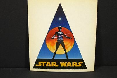 Vintage 1977 Star Wars Ralph McQuarrie Jedi Sticker Has Wear & Yellowing On It
