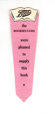 Rare Vintage BOOK MARK Boots Chemist Book-Lovers' Library Bookseller Bookshop