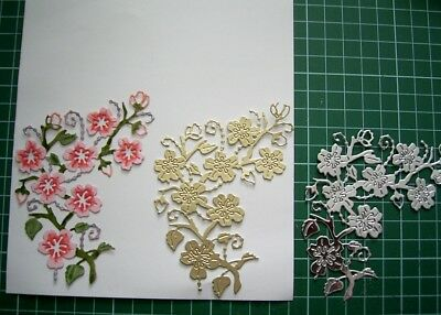 CHERRY BLOSSOM BRANCH - DIE D1163 - TATTERED LACE Stephanie Weightman