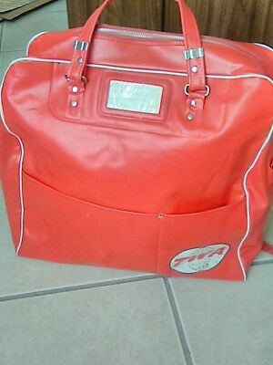 Vintage TWA Airlines Carry-On Shoulder Travel Bag///Large TWA Bag..16 x 16 RARE