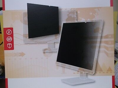 Staples 24 Inch Widescreen 16:10 Black Privacy Filter For Laptop Monitor New