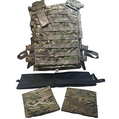 British Army Plate Carrier Stv Armour Vest Mtp Large With Soft Filler + Extras