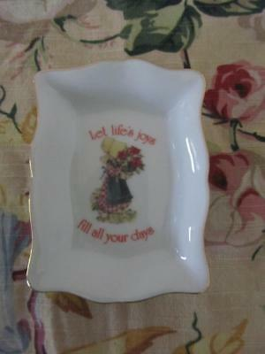 Vintage HOLLY HOBBIE Small Plate Pin Dish