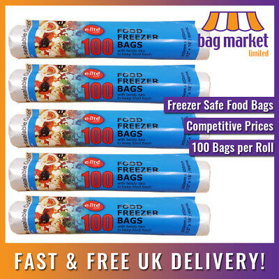 """Large 12"""" x 18"""" Clear Food Freezer Bags on a Roll! 