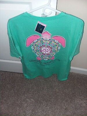 NWT New Simply Southern Short Sleeve T Shirt Women's Watermelon Preppy Turtle XL