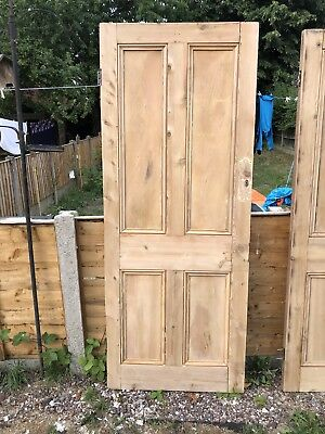 Reclaimed Victorian 4 panel beaded stripped pine doors.  3 available