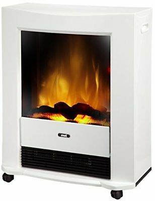 EWT Bartok Interior Portable Fireplace Eléctrico Blanco - Chimenea (570 mm,