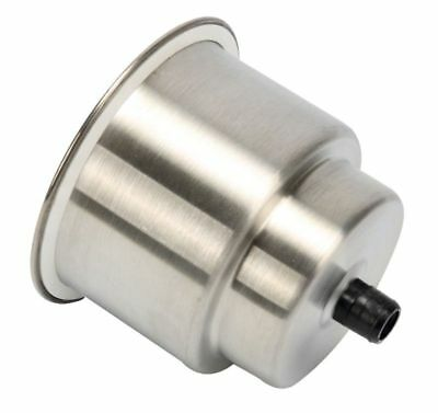 Stainless steel self draining recessed cup holder w/ Drain Marine Boat RV Camper