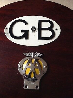 Two Classic Aa Badges
