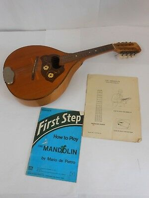 Vintage 8 String Mandolin With Instruction Books